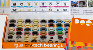 dry-tech sample box with plain bearings and templates