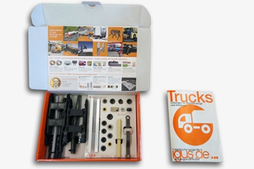 Sample box Truck & Trailer, utility vehicles