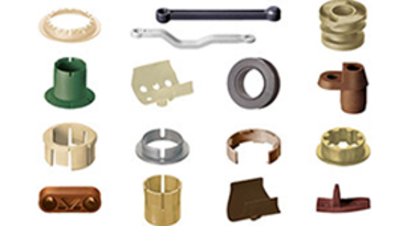 Individual injection moulded parts